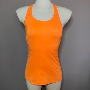 Nike neon orange Dri-fit tank